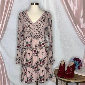 Taylor & Sage Long Sleeve Floral Print dress